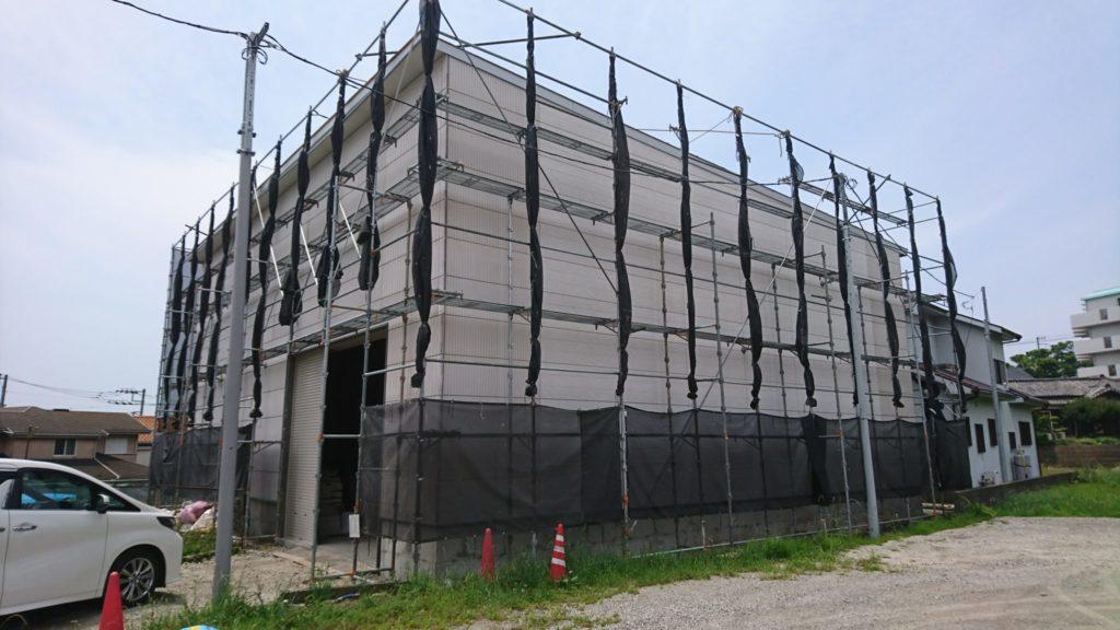 横須賀市M社様外壁塗装施工前