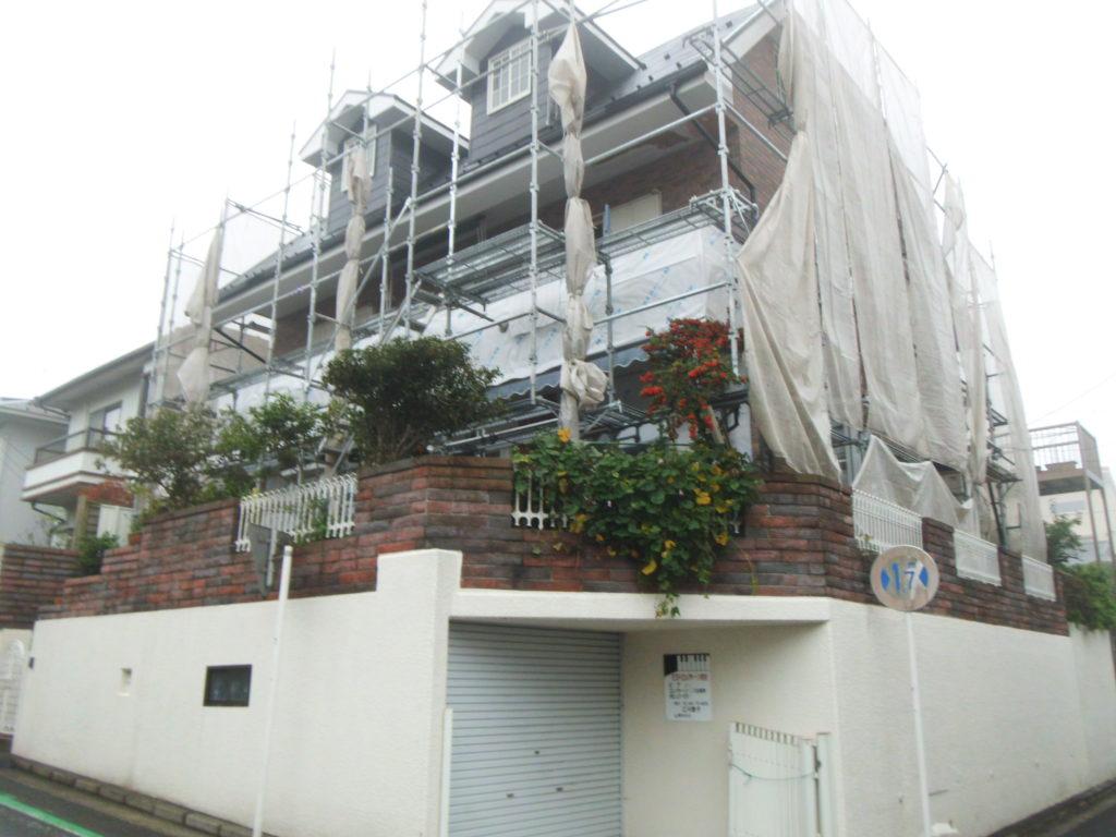 横浜市南区E邸外壁工事施工前